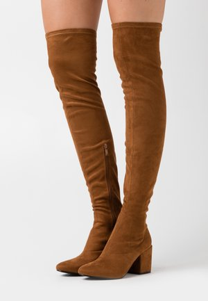 KOLA - Over-the-knee boots - cognac