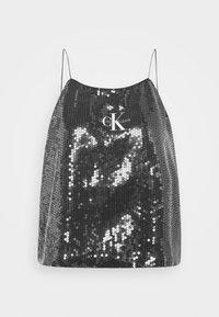 Calvin Klein Jeans - SEQUIN LOGO STRAP  - Linne - black - 4