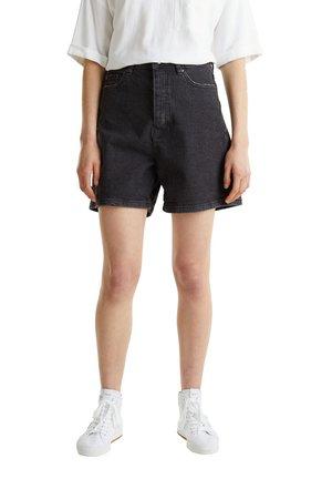 HIGH-RISE-SHORTS AUS BLACK DENIM - Jeans Shorts - black medium washed