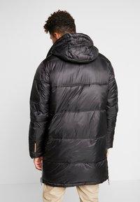 Superdry - STREET LONGLINE PUFFER - Płaszcz zimowy - jet black - 2