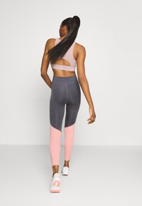 Even&Odd active - Leggings - grey/pink_rose - 2