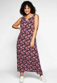 Sheego - Maxi dress - schwarz bedruckt - 0