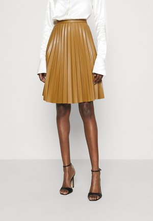 CLOSET MINI PLEATED SKIRT - Mini skirt - tan