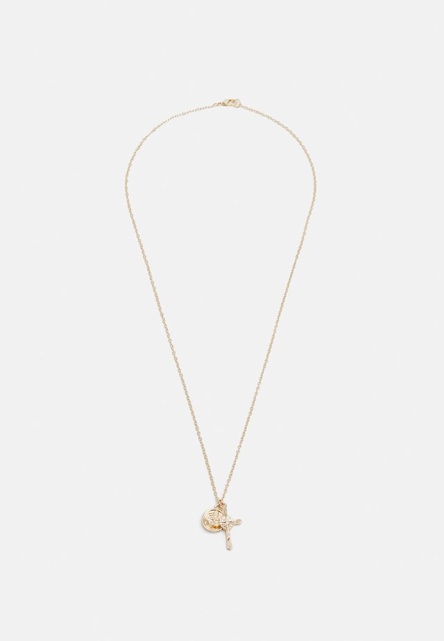 ROSS COIN CLUSTER NECKLACE - Collana - gold-coloured