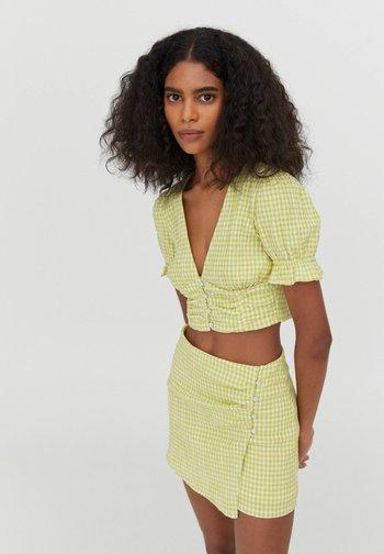 MIT VICHYKAROS - Blouse - light green