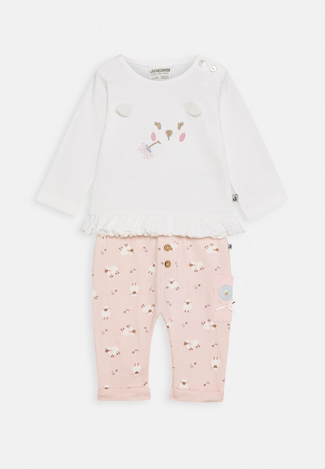 HOSE + LANGARMSHIRT FLUFFY & LOVELY SET - Leggings - Trousers - mixed