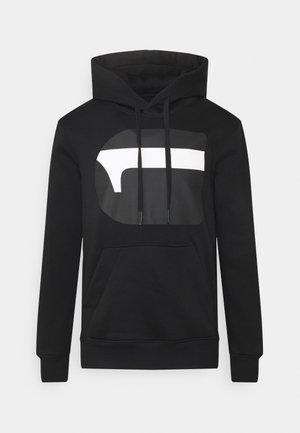 Hoodie - dark black