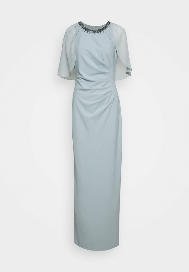 CAPELET AND CREPE GOWN - Abito da sera - frosted sage