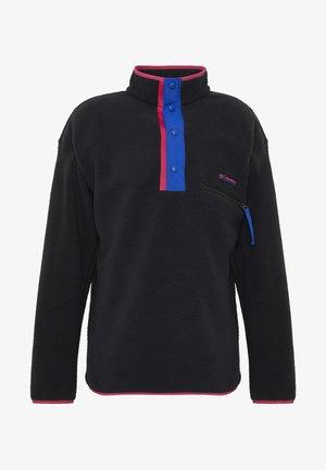 HELVETIA™ HALF SNAP - Fleece jumper - black