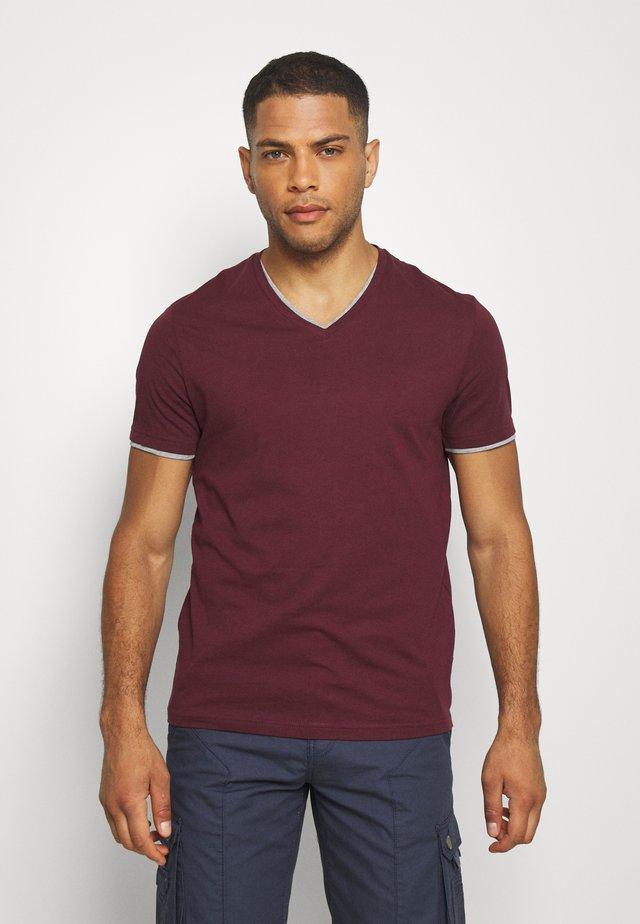 T-shirt basique - bordeaux