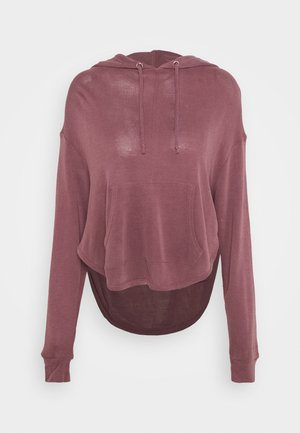 BACK INTO IT HOODIE - Mikina s kapucí - dark red