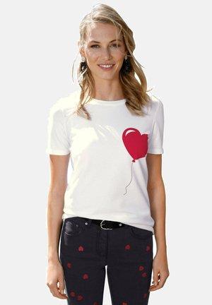 Print T-shirt - weiß,rot