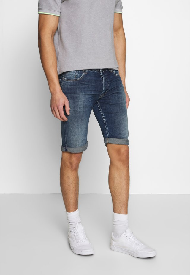 SCOTT - Denim shorts - blue denim