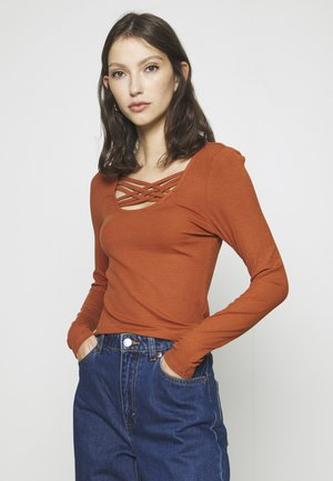 ONLMARY - Long sleeved top - ginger bread