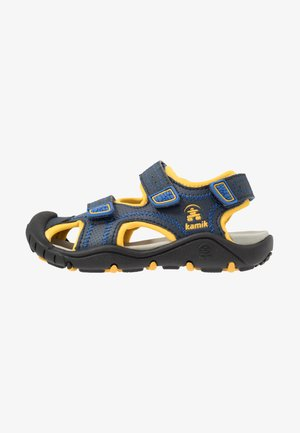 SEATURTLE 2 - Walking sandals - navy/citrus/marine/agrumes