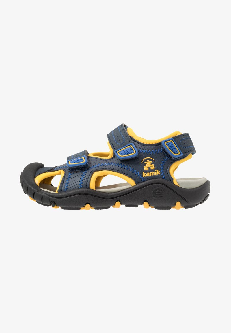 Kamik - SEATURTLE 2 - Walking sandals - navy/citrus/marine/agrumes