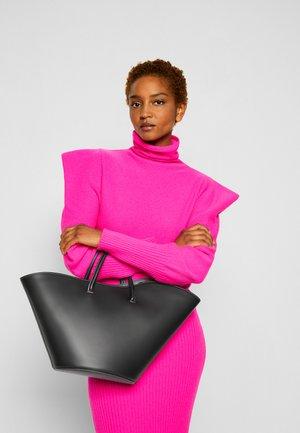 OPEN TULIP TOTE MEDIUM - Shopping bag - black