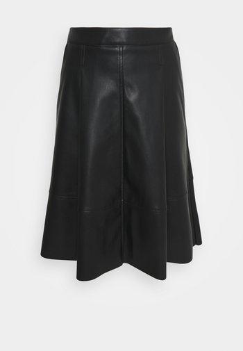 SKIRT MIDI - A-line skirt - black