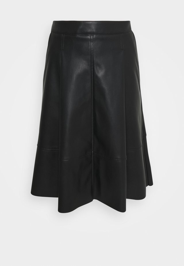 SKIRT MIDI - A-lijn rok - black