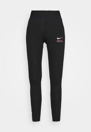 CLUB - Leggings - black/hyper pink