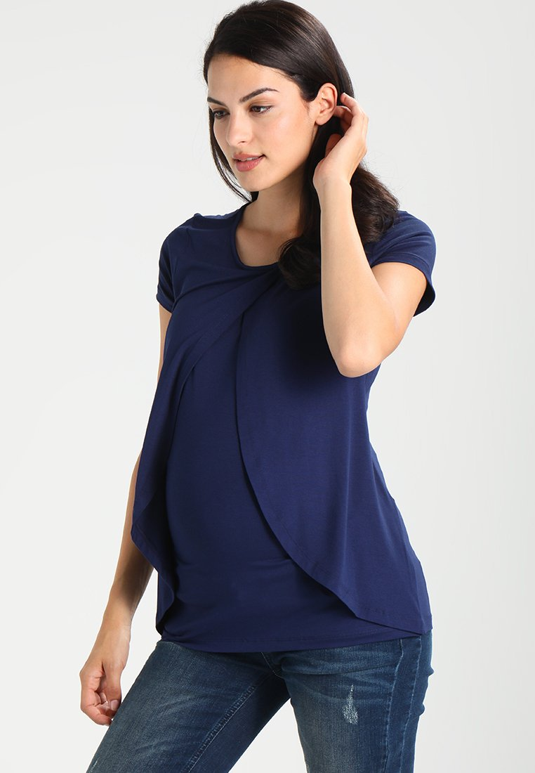 Zalando Essentials Maternity - Print T-shirt - peacoat