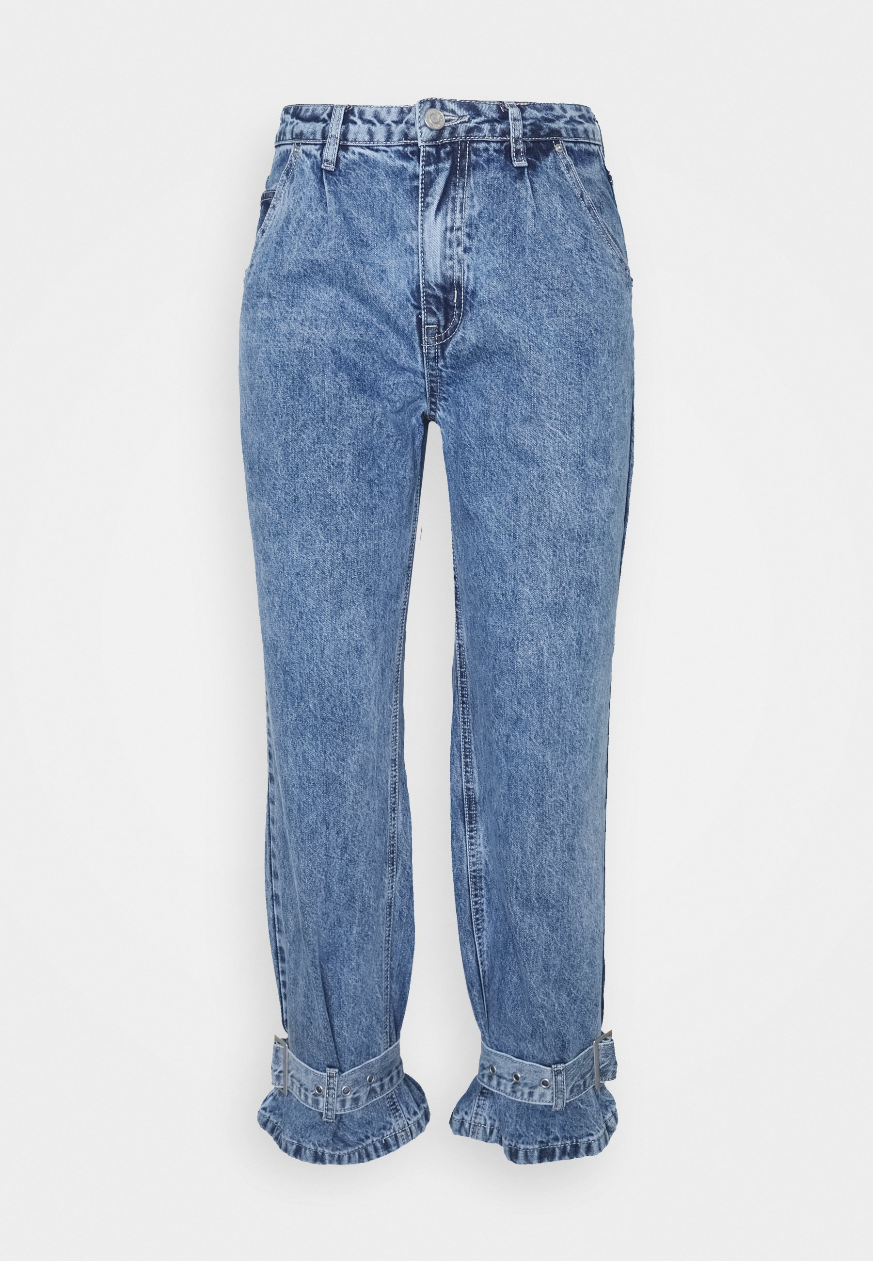 Women MOM BUCKLE DETAIL - Relaxed fit jeans
