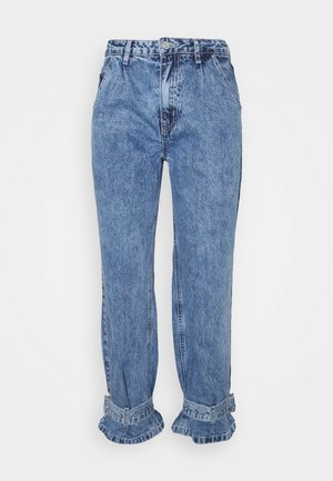 MOM BUCKLE DETAIL - Relaxed fit jeans - blue