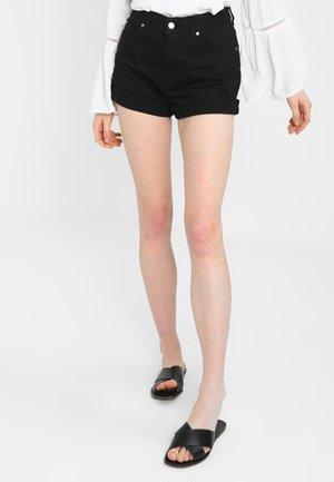 JENN  - Denim shorts - black
