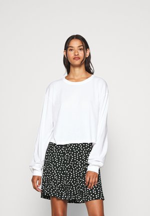 ALLY BOXY LONG SLEEVE - Langærmede T-shirts - white