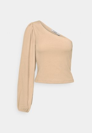 ONE SHOULDER - Long sleeved top - beige