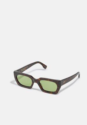 TEDDY UNISEX - Zonnebril - dark brown/light brown/green