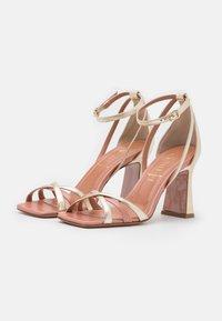 Oxitaly - ALYSSA - Korolliset sandaalit - sirio rosa/platino/rosa - 2