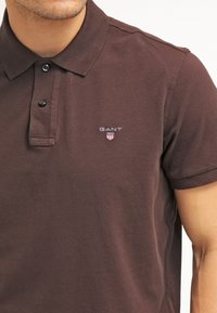 GANT - THE ORIGINAL RUGGER - Polo - dark brown - 3