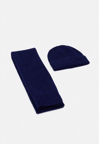 UNISEX SET - Scarf - dark blue