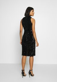 Club L London - SEQUIN HIGH NECK MIDI DRESS - Sukienka koktajlowa - black - 2