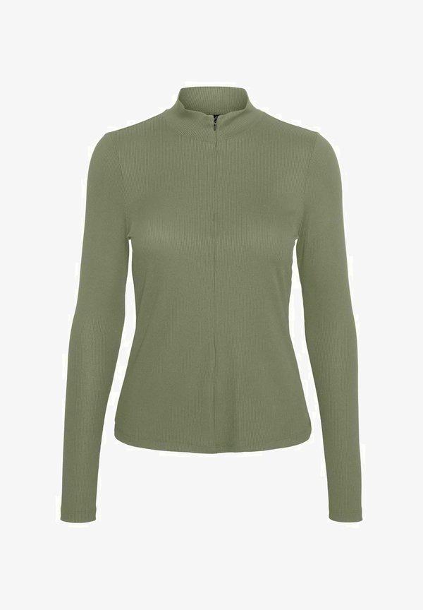 Vero Moda Bluzka z długim rękawem - oil green/zielony YJAP
