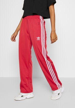 FIREBIRD ADICOLOR TRACK PANTS - Tracksuit bottoms - lusred/white
