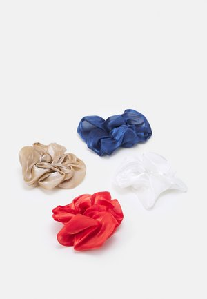 ONLALBA SRUNCHIE 4 PACK - Hair Styling Accessory - white/brown/blue/red