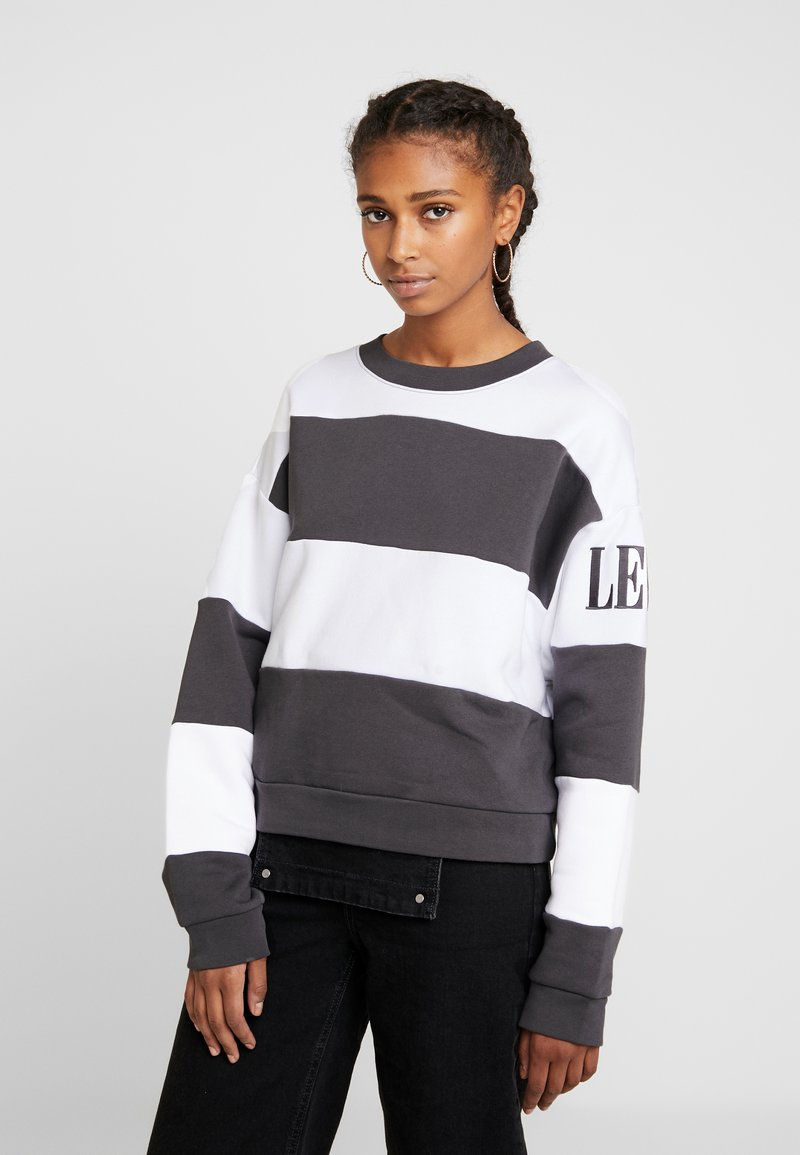 Levi's® - DIANA CREW - Sweater - haley forged iron/white