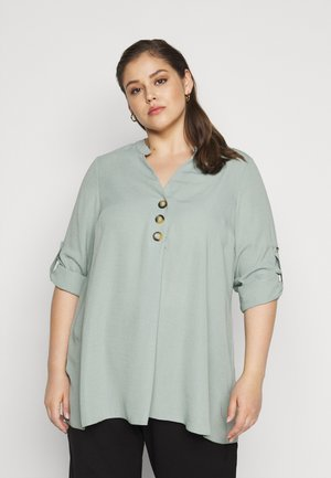 SAGE BUTTON SHIRT - Blouse - sage