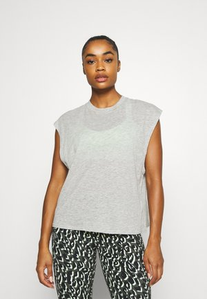 LIFESTYLE SLOUCHY MUSCLE TANK - T-paita - grey marle