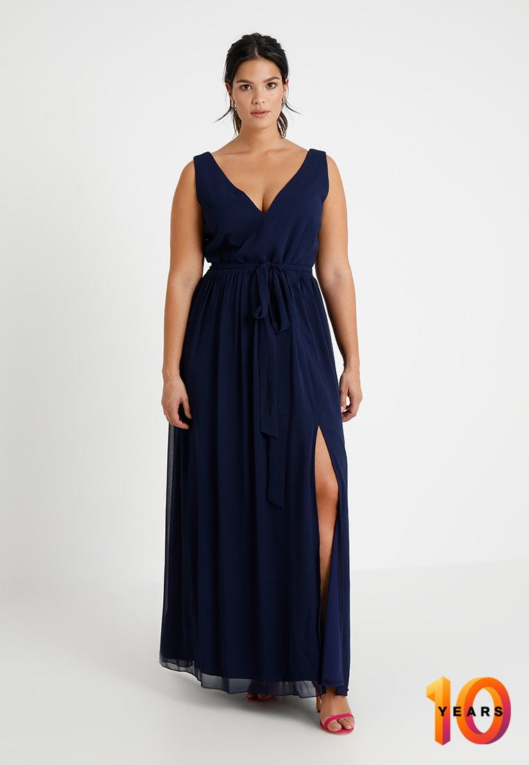 Little Mistress Curvy - ROSE NECK MAXI DRESS - Ballkjole - navy