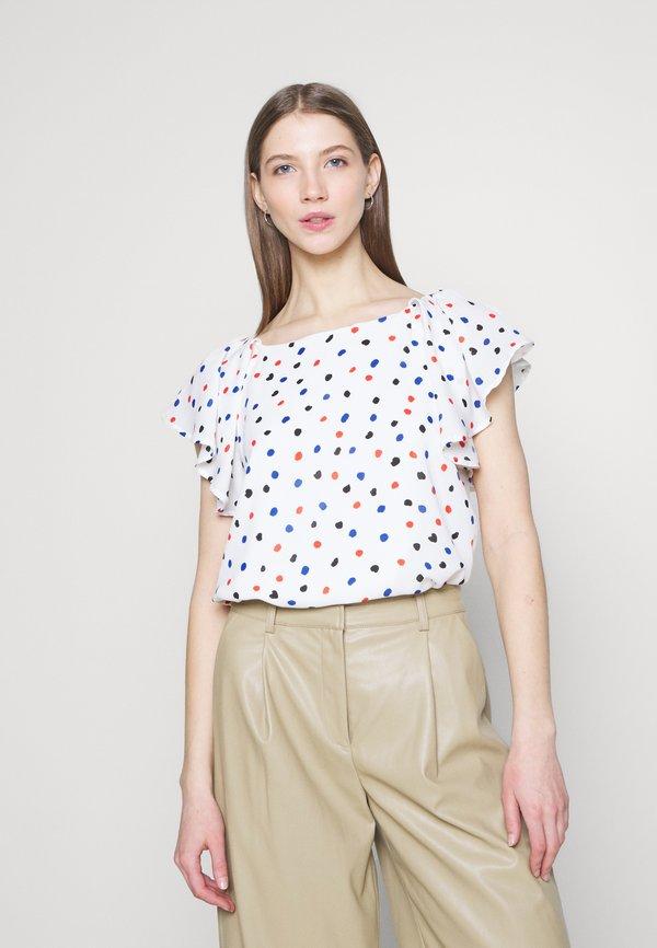 Molly Bracken LADIES - T-shirt z nadrukiem - naval white/biały EJXR