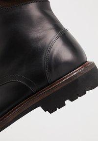 Prime Shoes - Šněrovací kotníkové boty - buttero black - 5