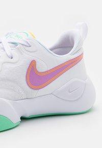Nike Performance - SPEEDREP - Sports shoes - white/violet shock/laser orange/green glow/infinite lilac - 5