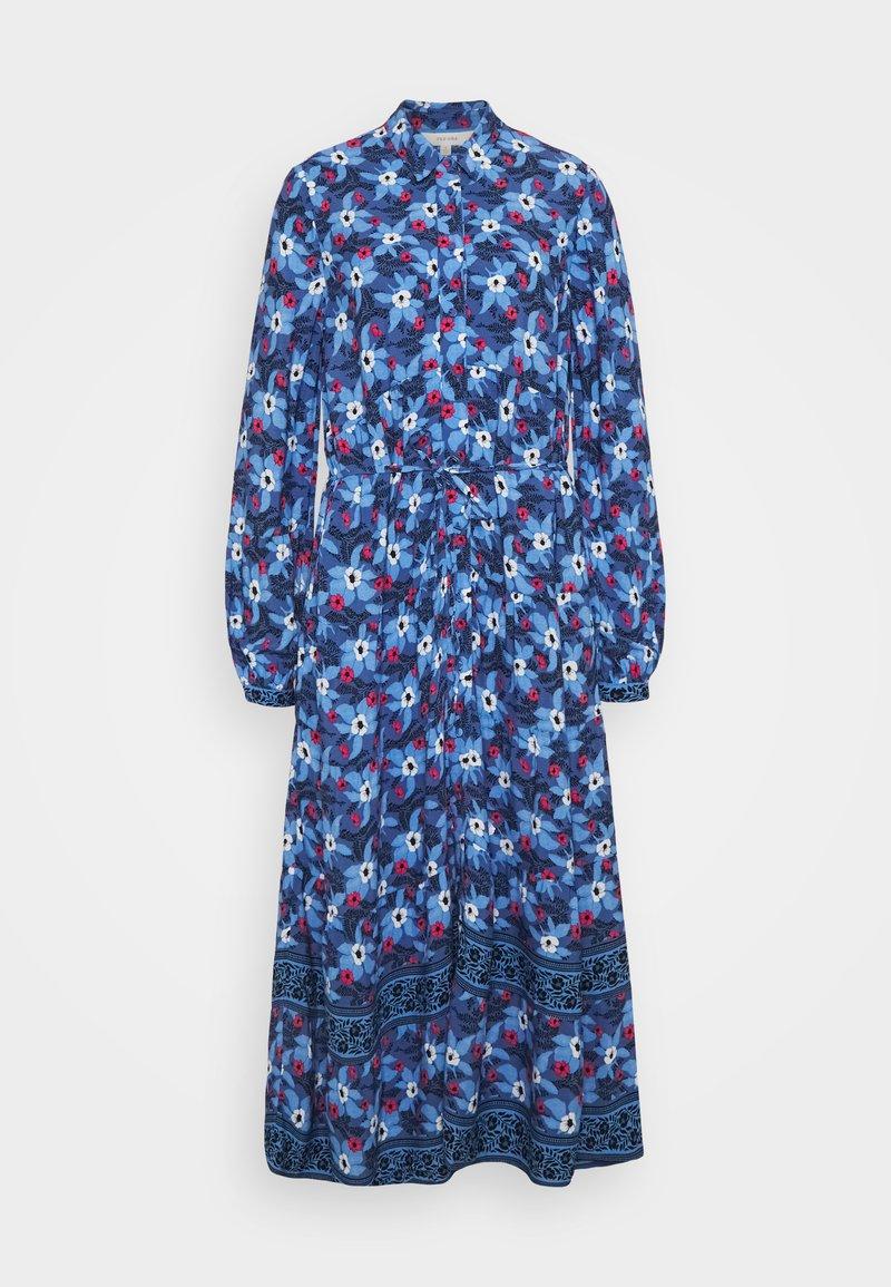 Marks & Spencer London - BOARDER SHIRTDRESS - Maxi-jurk - blue