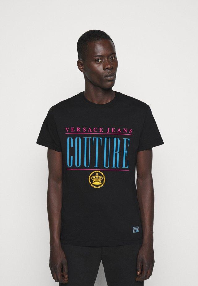 MAN - Print T-shirt - nero