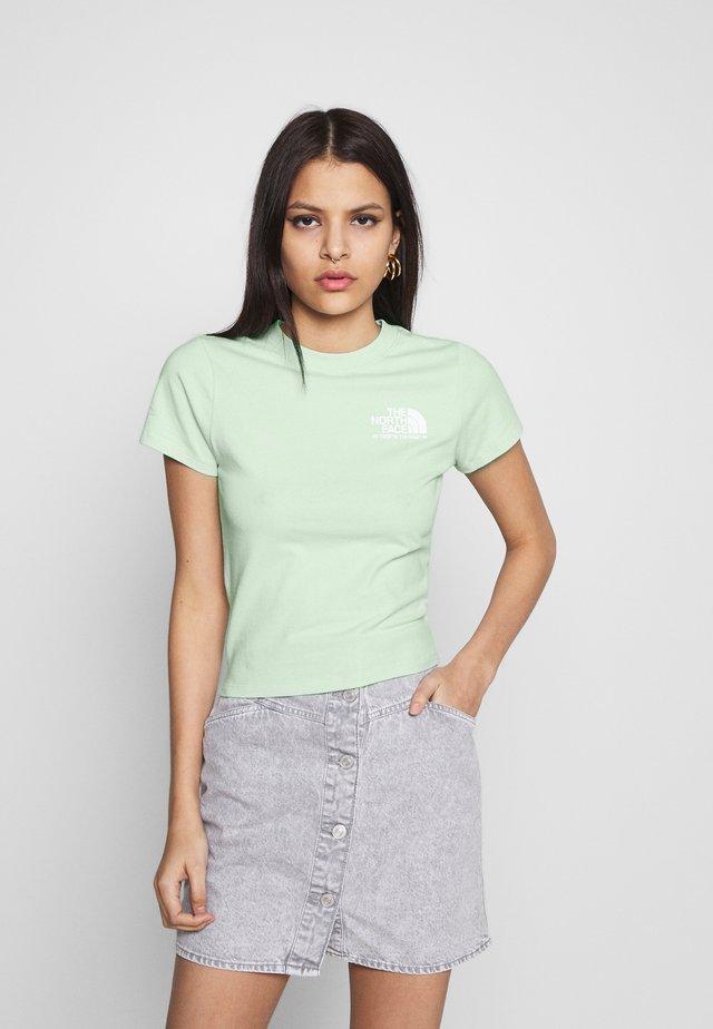 COORDINATES TEE - Print T-shirt - green mist