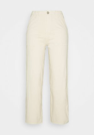 WIDE LEG WITH RAW HEM - Relaxed fit jeans - ecru