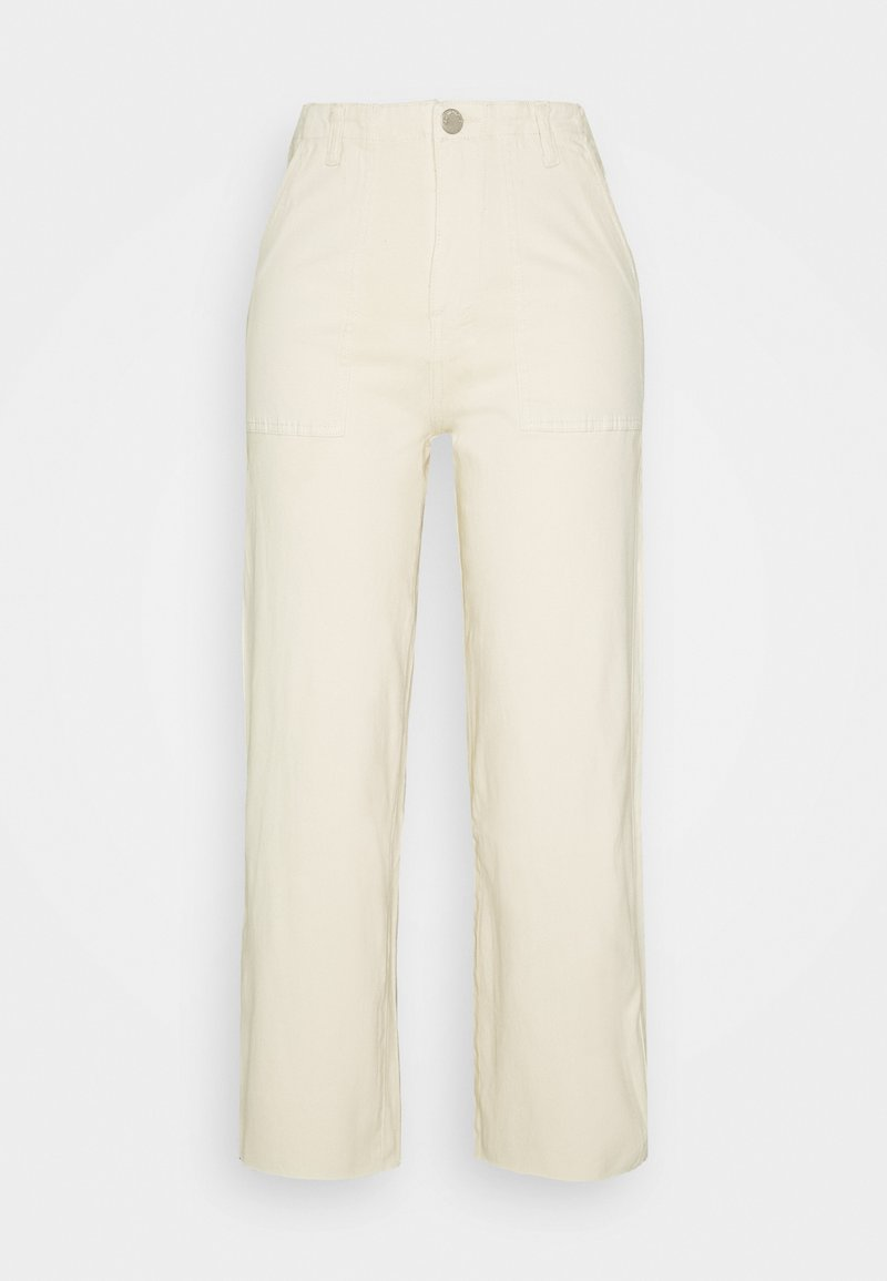 Glamorous - WIDE LEG WITH RAW HEM - Jeans Relaxed Fit - ecru